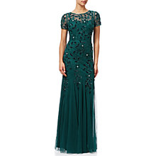 Buy Adrianna Papell Floral Beaded Gown, Hunter Online at johnlewis.com