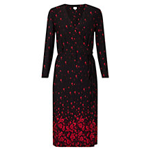 Buy East Ophelia Print Jersey Dress, Black Online at johnlewis.com