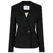 Buy L.K. Bennett Neat Flannel Sara Jacket, Black Online at johnlewis.com