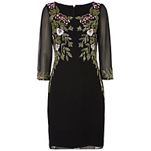 Buy Raishma Floral Embroidery Shift Dress, Black Online at johnlewis.com