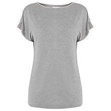 Buy Warehouse Diamante Trim Top, Dark Grey Online at johnlewis.com