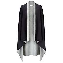 Buy Jacques Vert Reversible Cover Up Knit Poncho, Dark Grey Online at johnlewis.com