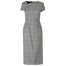 Buy L.K. Bennett Neha Neat Check Dress, Grey Online at johnlewis.com