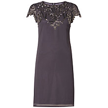 Buy Raishma Embellished Neck Dress, Charcoal Online at johnlewis.com