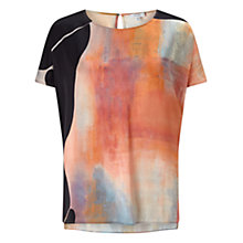 Buy Jigsaw Silhouette Silk Top, Multi Online at johnlewis.com