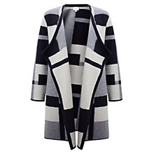 Buy East Patchwork Coatigan, Navy Online at johnlewis.com