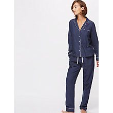 Buy Jigsaw Phoebe Melange Pyjama Set Online at johnlewis.com