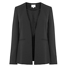 Buy Warehouse Pinspot Collarless Jacket, Black Online at johnlewis.com