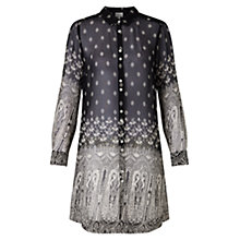 Buy East Vassila Print Long Shirt, Black Online at johnlewis.com