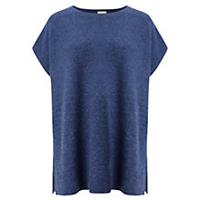 Buy East Ribbed Poncho Jumper, Denim Blue Online at johnlewis.com