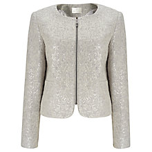 Buy Jacques Vert Sequin Knit Jacket, Mid Grey Online at johnlewis.com
