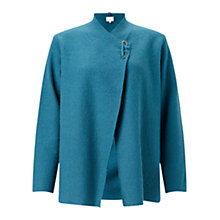 Buy East Boiled Wool Pin Detail Jacket, Teal Online at johnlewis.com