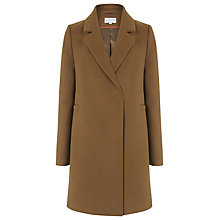 Buy Warehouse Clean Double Breasted Coat, Tan Online at johnlewis.com
