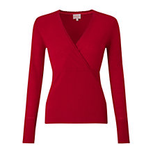Buy East Wrap Front Knit Top, Scarlet Online at johnlewis.com