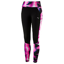 Buy Puma Graphic Running Tights, Pink/Black Online at johnlewis.com