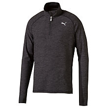 Buy Puma Half Zip Long Sleeve Running T-Shirt, Grey Online at johnlewis.com