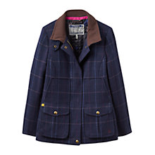 Buy Joules Fieldcoat Semi-Fitted Tweed Coat, Navy Check Online at johnlewis.com