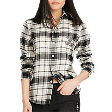 Buy Polo Ralph Lauren Embellished Check Shirt, Winter/Dark Online at johnlewis.com