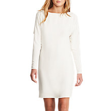 Buy Polo Ralph Lauren Long Sleeve Silk Dress, Marshmallow Online at johnlewis.com