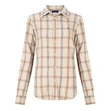 Buy Polo Ralph Lauren Georgia Check Flannel Shirt, Cream/Tan Online at johnlewis.com