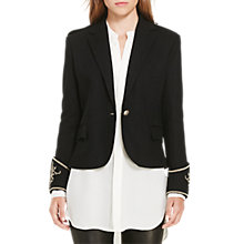 Buy Polo Ralph Lauren Embellished Cuff Blazer, Polo Black Online at johnlewis.com
