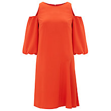 Buy Finery Colet Puff Sleeve Shift Dress, Orange Online at johnlewis.com