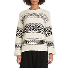 Buy Polo Ralph Lauren Patterned Jumper, Cream/Black Online at johnlewis.com