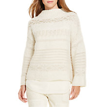 Buy Polo Ralph Lauren High Neck Jumper, Cream Online at johnlewis.com