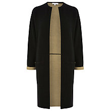 Buy Warehouse Colourblock Cardigan Coat, Black Online at johnlewis.com