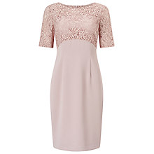 Buy Jacques Vert Petite Lace Top Dress, Light Neutral Online at johnlewis.com