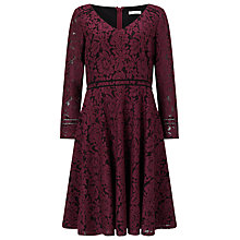 Buy Jacques Vert Lace Detail Dress, Multi Red Online at johnlewis.com