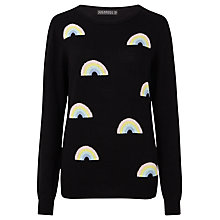 Buy Sugarhill Boutique Rainbow Repeat Jumper, Black Online at johnlewis.com