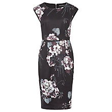 Buy Sugarhill Boutique Lori Greyscale Floral Shift Dress, Black/Grey Online at johnlewis.com