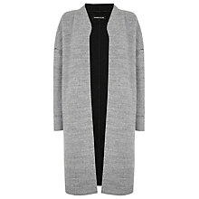 Buy Warehouse Bonded Swing Coat, Light Grey Online at johnlewis.com