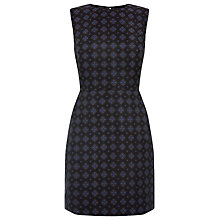 Buy Warehouse Tile Jacquard Dress, Navy Online at johnlewis.com