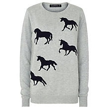 Buy Sugarhill Boutique Unicorn Jumper, Grey Marl Online at johnlewis.com