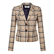 Buy Hobbs Tiffany Check Jacket, Camel Online at johnlewis.com