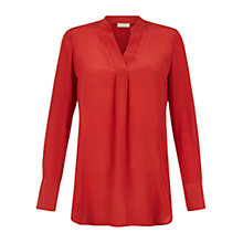 Buy Hobbs Saira Blouse, Henna Red Online at johnlewis.com