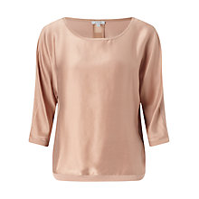 Buy Jigsaw Satin Batwing Top Online at johnlewis.com
