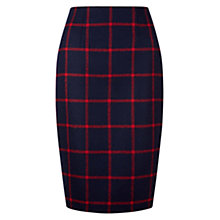Buy Hobbs Tasha Skirt, Navy/Red Online at johnlewis.com