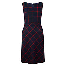 Buy Hobbs Tasha Dress, Navy/Red Online at johnlewis.com