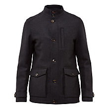 Buy Ted Baker Chile High Neck Jacket, Grey Online at johnlewis.com