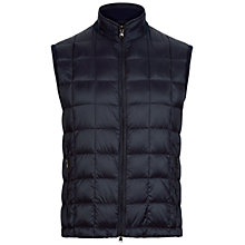 Buy Hackett London Knitted Back Gilet, Navy Online at johnlewis.com