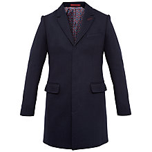 Buy Ted Baker Rascot Spotted Twill Overcoat, Navy Online at johnlewis.com
