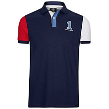 Buy Hackett London Marl Cross Polo Top, Red Online at johnlewis.com