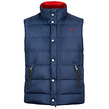 Buy Hackett London Classic Gilet, Navy Online at johnlewis.com
