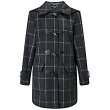 Buy Four Seasons Check Duffle Coat, Charcoal/Black Online at johnlewis.com