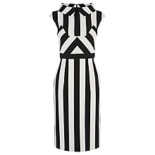 Buy Karen Millen Multi Stripe Dress, Black/White Online at johnlewis.com