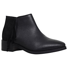 Buy KG by Kurt Geiger Shimmer Ankle Boots, Black Leather Online at johnlewis.com