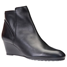 Buy Geox Venere Wedge Heeled Ankle Boots, Black Online at johnlewis.com
